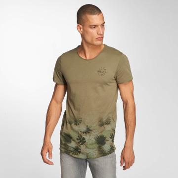 Sublevel t-shirt Tropic olijfgroen