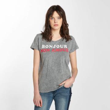 Sublevel T-shirts Bonjour grå