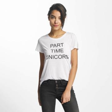Sublevel T-shirts Part Time Unicorn hvid