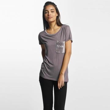 Sublevel T-skjorter Juliana Velvet Femme grå