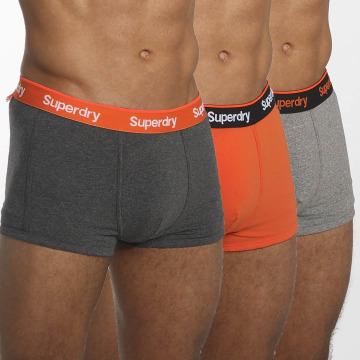 Superdry Boxershorts Orange Label Triple Pack bunt