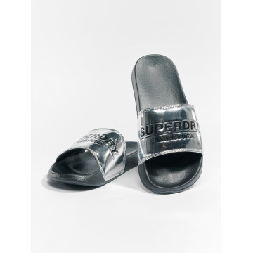 Superdry Sandals City Slide silver colored