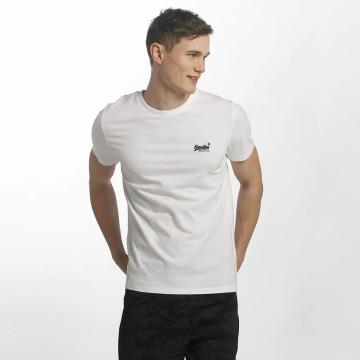 Superdry T-Shirt Orange Label Vintage Embroidered blanc