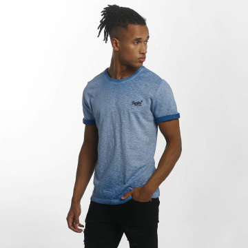 Superdry T-Shirt Orange Labl Low Roller blue