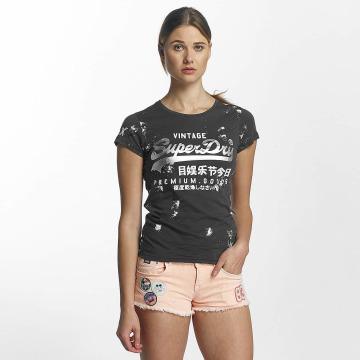 Superdry T-shirt Premium Goods Doodle Entry grigio