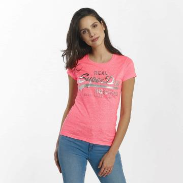 Superdry T-shirts Vintage Logo Embossed Foil pink
