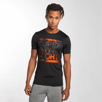 Superdry T-Shirty Sport Training Graphic czarny