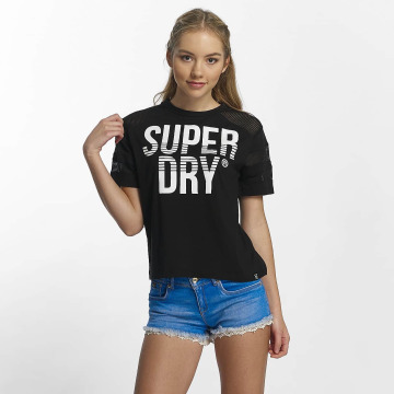 Superdry T-Shirty Pacific Pieced czarny