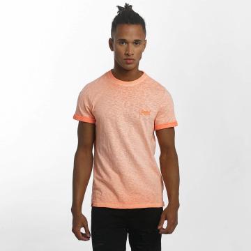 Superdry T-Shirty Orange Labl Low Roller pomaranczowy