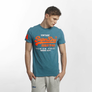 Superdry T-skjorter Premium Goods Duo blå