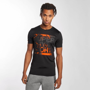Superdry T-skjorter Sport Training Graphic svart