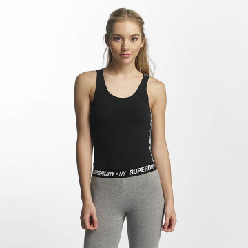 Superdry top Athletic Strap zwart