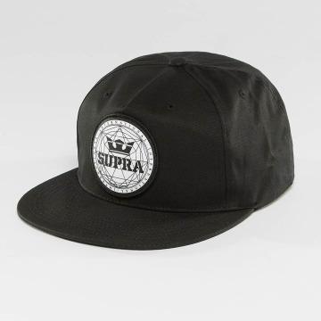 Supra Snapback Caps Geo Patch Slider čern