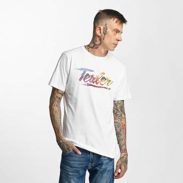 Tealer T-shirt Glitch Color bianco