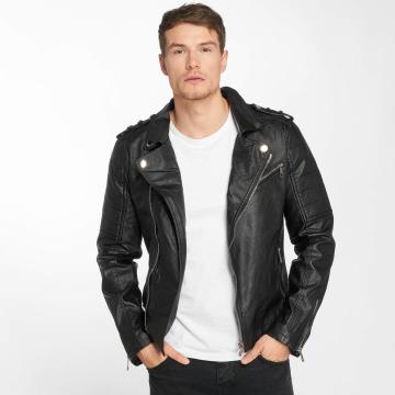 Terance Kole Leather Jacket Kingkong black