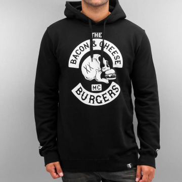 The Dudes Hoody Bacon Cheese Burgers zwart