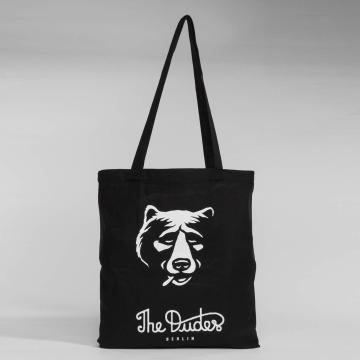 The Dudes Sac à cordons Smoking Bear noir