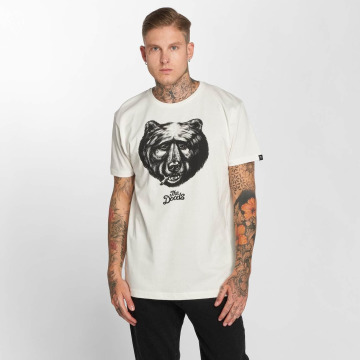 The Dudes Tričká Black Bear biela