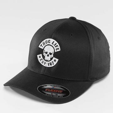 Thug Life Basic Flexfitted Cap Basic Skull Flexfit čern