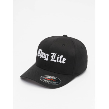 Thug Life Basic Flexfitted Cap Basic Old English schwarz