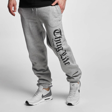 Thug Life Basic Jogging kalhoty Cities šedá