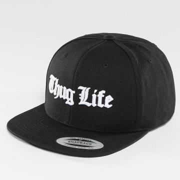 Thug Life Basic Snapback Caps Basic Old English čern