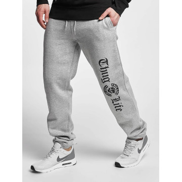 Thug Life Basic Sweat Pant Old English grey
