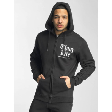 Thug Life Basic Zip Hoodie Chest Cities schwarz