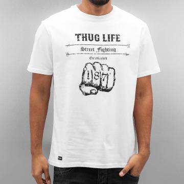 Thug Life Camiseta Streetfight blanco