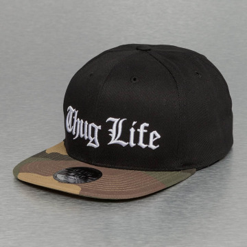 Thug Life Casquette Snapback & Strapback White Logo noir