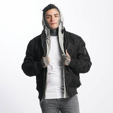 Thug Life Chaqueta de entretiempo Manchester Hooded negro