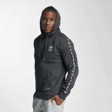 Thug Life Hoodie Based grå