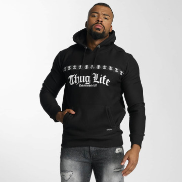 Thug Life Hoodie Burn svart