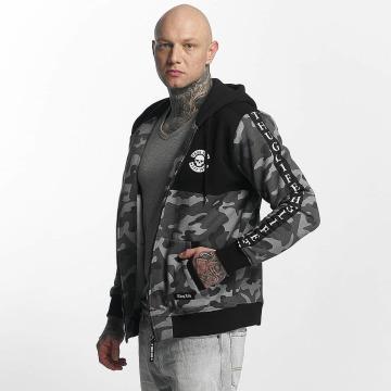 Thug Life Hoodies con zip Wired grigio