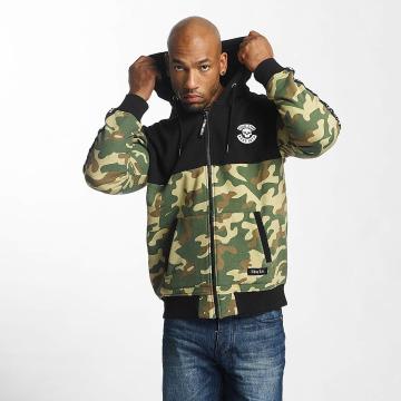 Thug Life Hoodies con zip Wired mimetico