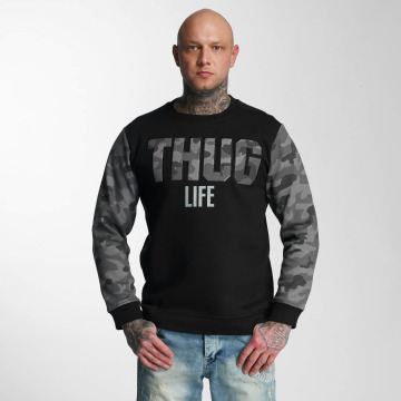 Thug Life Pullover Zombi grau