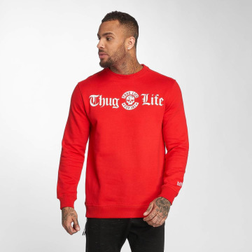 Thug Life Pullover B.Distress red