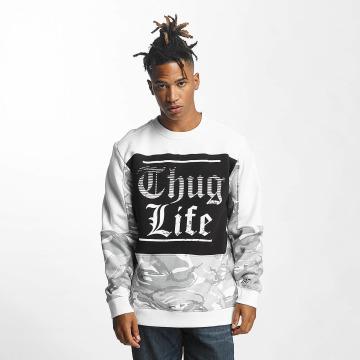 Thug Life Pulóvre New Life biela
