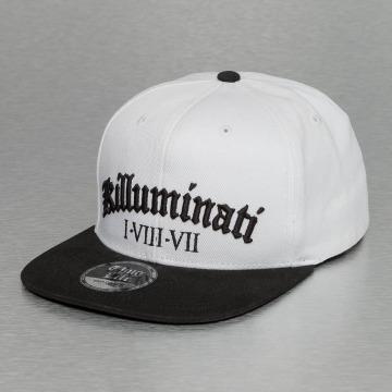 Thug Life Snapback Cap Killuminati bianco
