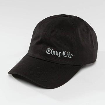 Thug Life Snapback Caps Curved musta
