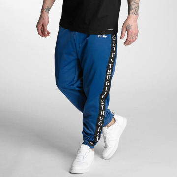 Thug Life Sweat Pant Two Stripes blue