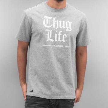 Thug Life T-paidat Deadking harmaa
