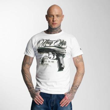 Thug Life T-Shirt no reason weiß
