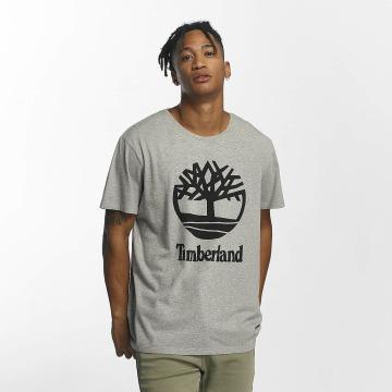 Timberland Футболка Linear Basic Stacked серый