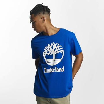 Timberland Футболка Linear Basic Stacked синий