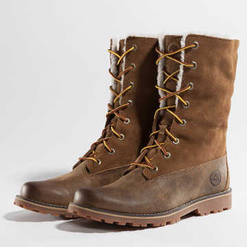 Timberland Boots 6 In Waterproof Shearling marrone