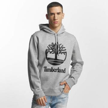 Timberland Felpa con cappuccio Stacked Logo grigio