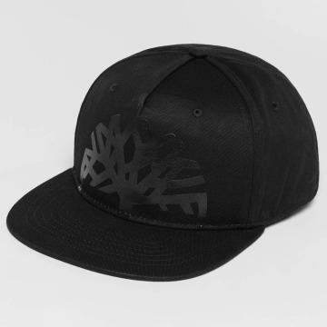 Timberland Snapback Caps Large Logo Solid musta