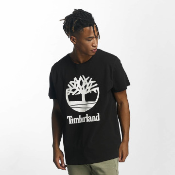 Timberland T-paidat Linear Basic Stacked musta