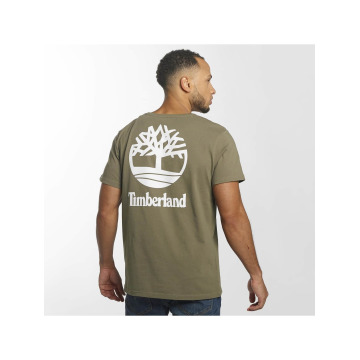 Timberland T-Shirt Stacked Logo braun
